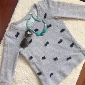 LC Lauren Conrad bow tie sweatershirt xs